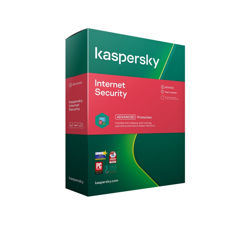 Kaspersky Internet Security 2020 1 Device 1 Year Antivirus and Security Discount Computer Needs