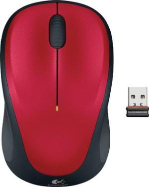 Logitech M235 Wireless Mouse Red 1 Year Battery Life Mice, Trackballs, and Pointers Discount Computer Needs