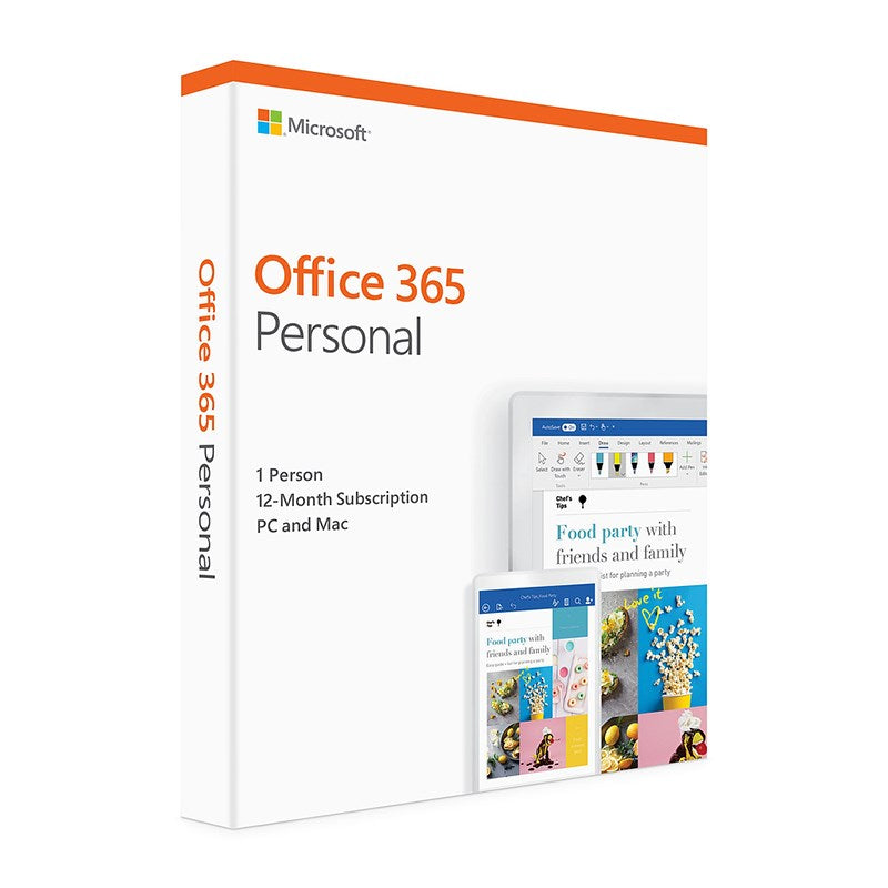 Microsoft Office 365 Personal 1 User 1 Year Office and Business Discount Computer Needs