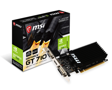MSI GT 710 1GB DDR3 Low Profile Video Cards Discount Computer Needs