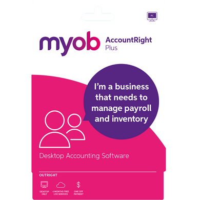 MYOB Account Right Plus Personal Finance, Tax, and Legal Discount Computer Needs