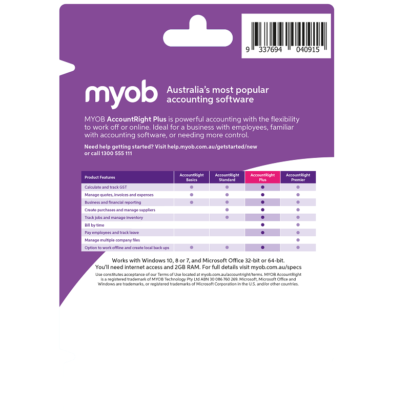 MYOB AccountRight Plus Test Drive 90 Days Personal Finance, Tax, and Legal Discount Computer Needs