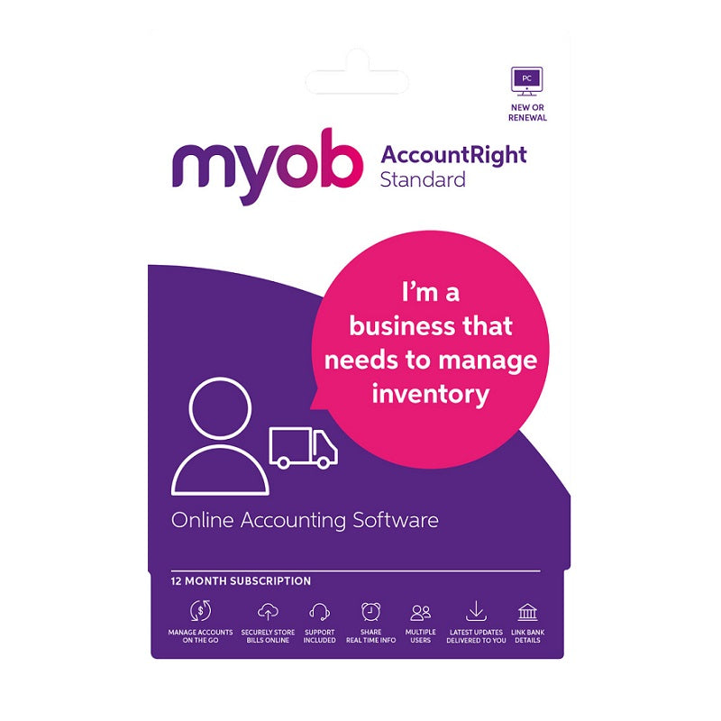 MYOB AccountRight Standard 1 Year Personal Finance, Tax, and Legal Discount Computer Needs