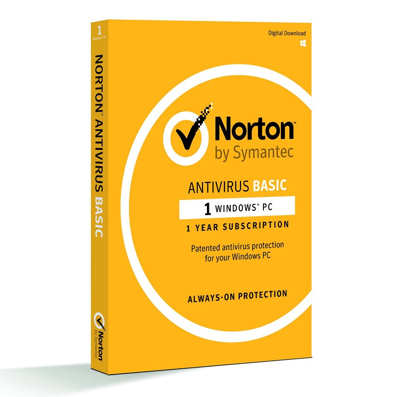Norton Antivirus Basic 1 PC 1 Year Antivirus and Security Discount Computer Needs