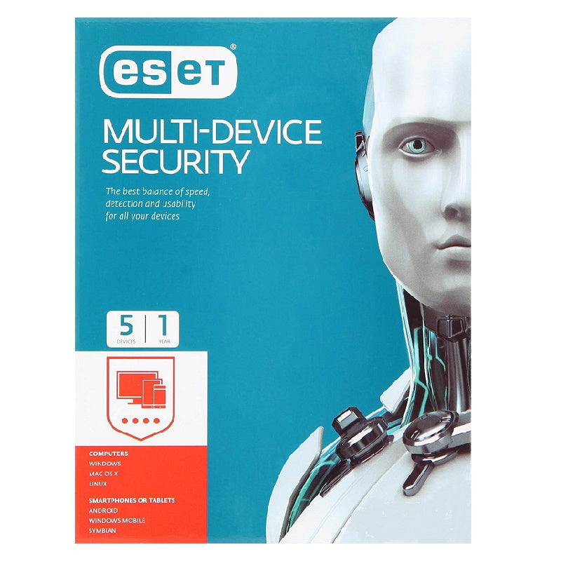 ESET Internet Security 5 Devices 1 Year New or Renewal Antivirus and Security Discount Computer Needs