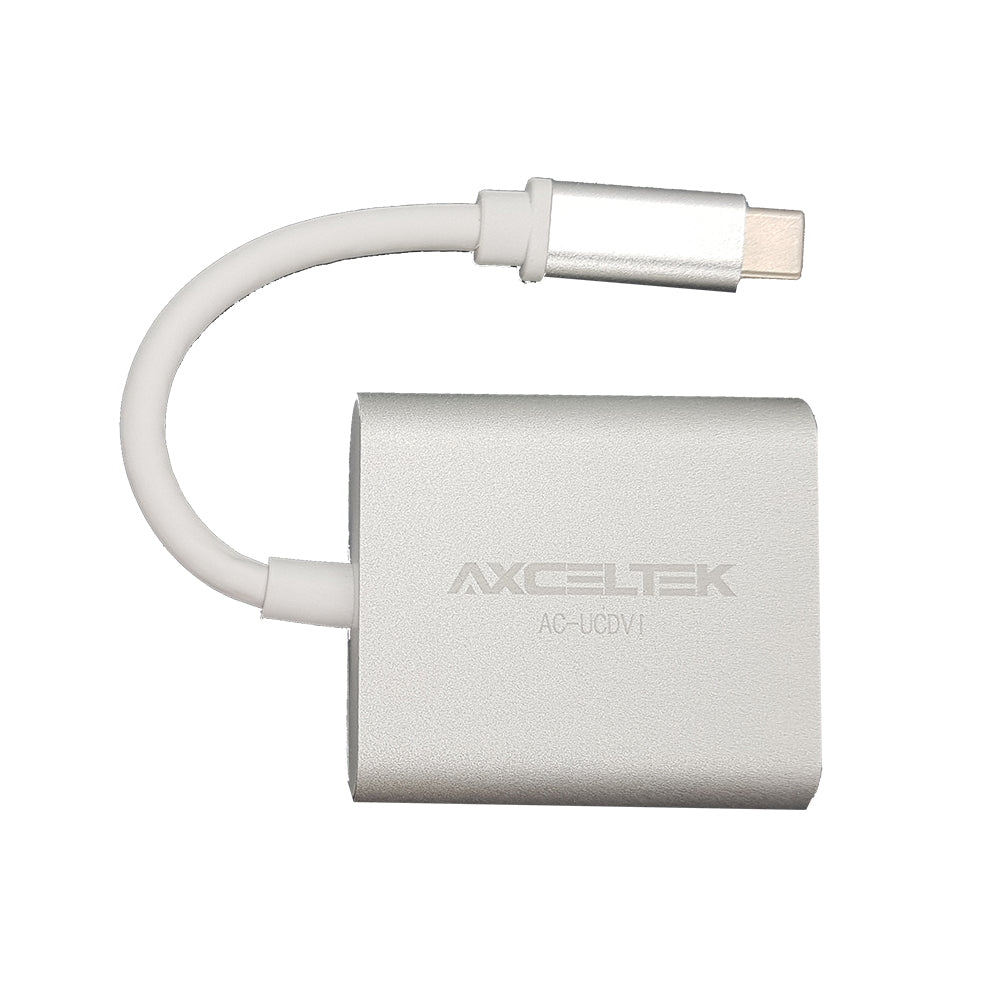 Axceltek USB-C Male to DVI Female 15cm Adapter USB Cables, Hubs and Adapters Discount Computer Needs