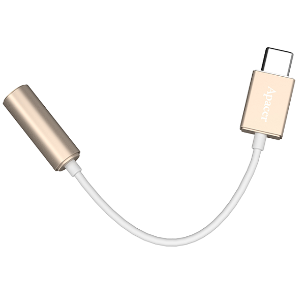 APACER USB3 Type C to 3.5mm Audio Cable GOLD USB Cables, Hubs and Adapters Discount Computer Needs
