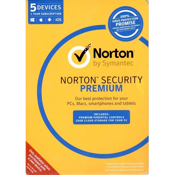 Symantec Norton Security Premium 3.0 Antivirus and Security Discount Computer Needs