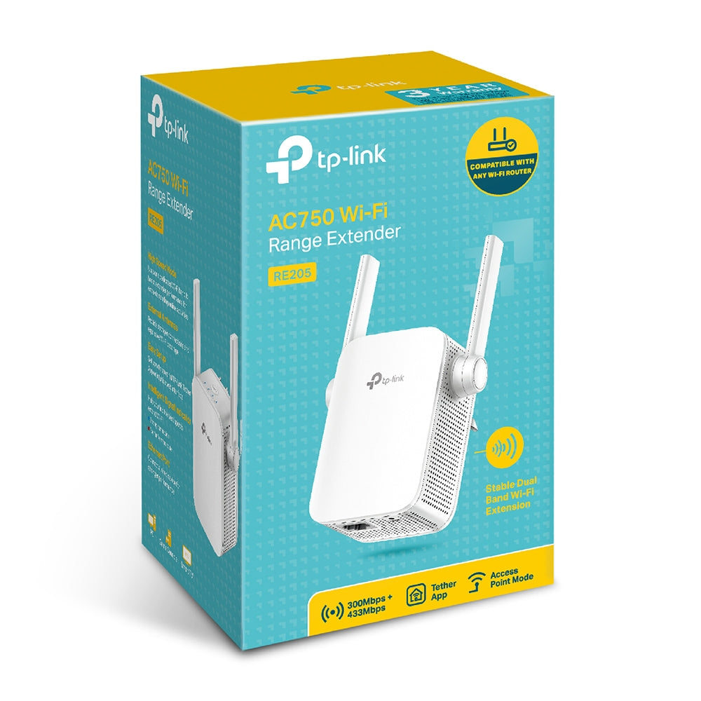 TP-Link RE205 AC750 Dual Band WiFi Extender Boosters, Extenders and Antennas Discount Computer Needs