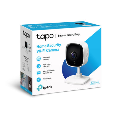 TP-Link TAPO-C100 WiFi HD Camera with 2 Way Audio Security Cameras Discount Computer Needs