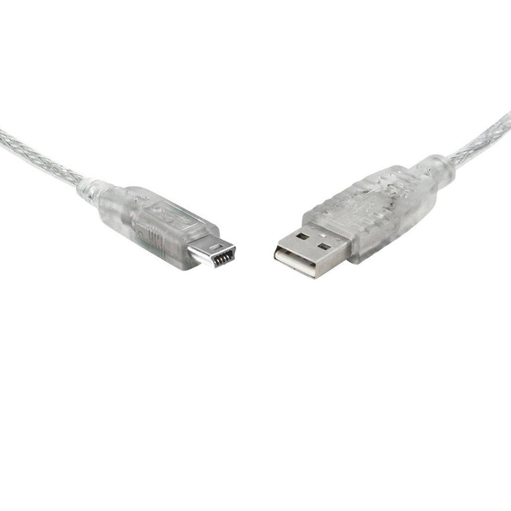 USB2 Type A Male to Type B Male 5 Pin Mini 1m Clear Cable USB Cables, Hubs and Adapters Discount Computer Needs