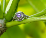 BEAUTY RING: sterling silver and amethyst - Sembilan jewelry