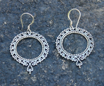 big journey hoops, silver hoop earrings