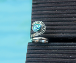ELEGANCE RING: sterling silver and abalone - Sembilan jewelry