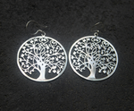 FULFILLMENT EARRINGS: sterling silver tree of life hoops - Sembilan jewelry