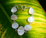 ELEGANCE BRACELET: sterling silver and mother of pearl - Sembilan jewelry