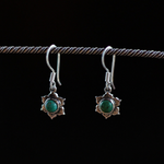 rebirth dangle earrings, genuine turquoise earrings