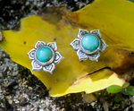 lotus flower jewelry, rebirth earrings, sterling silver stud earrings