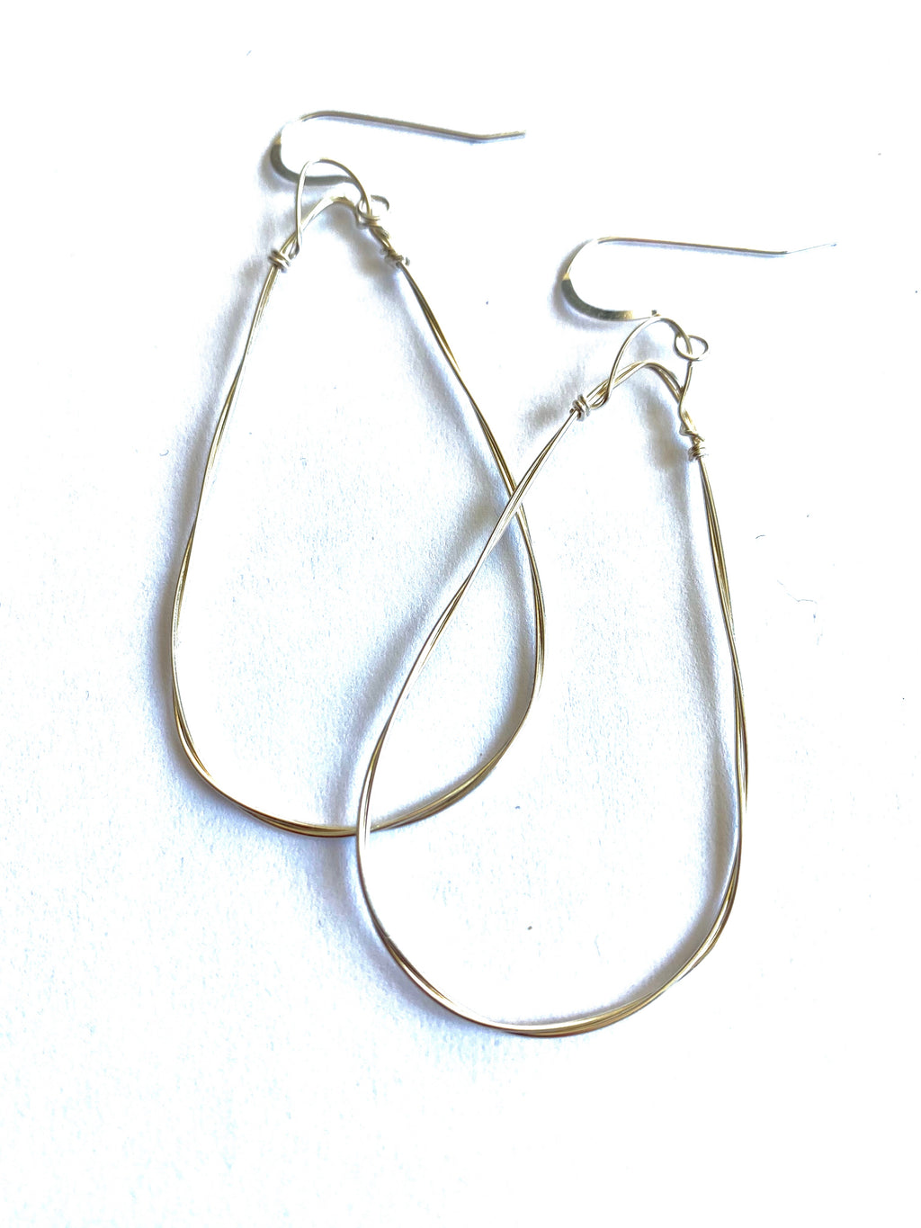 Emma Rose Designs Small Triangle Hoops in Sterling Silver