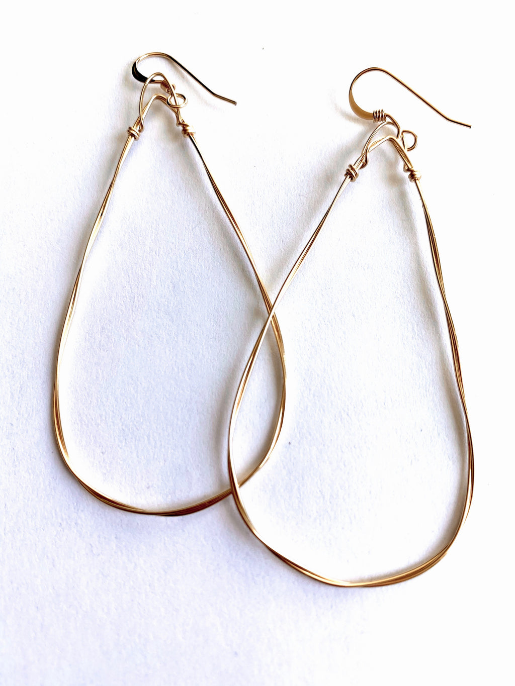 Emma Rose Small Triangle Hoops in 14K Gold Filled Wire