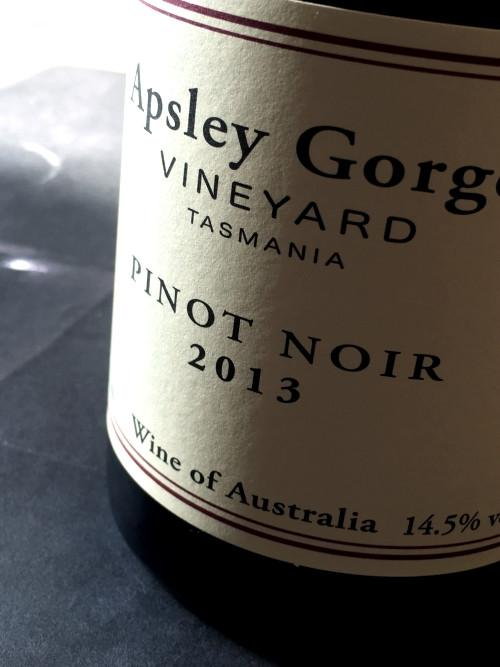 Apsley Gorge 2013 Pinot Noir