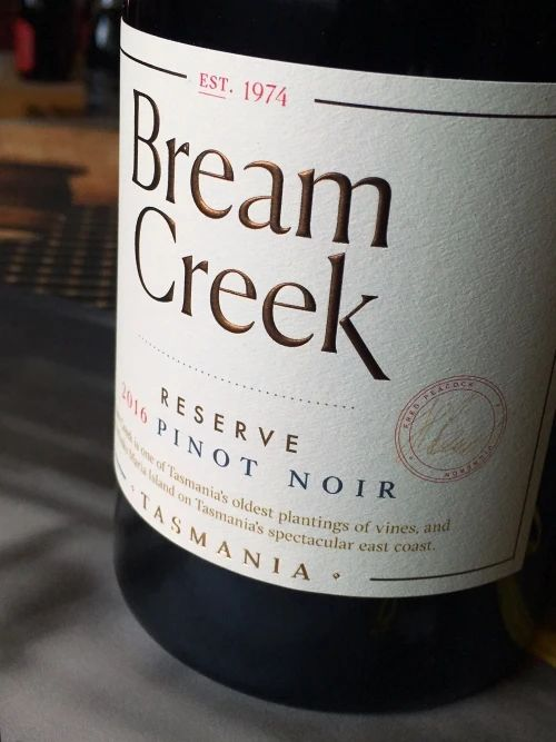 Bream Creek 2016 RESERVE Pinot Noir