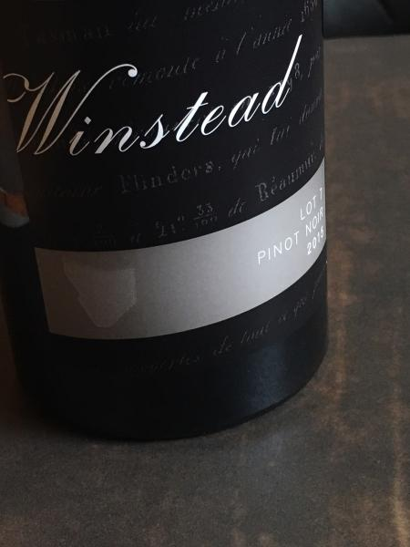 Winstead 2016 Lot 7 Pinot Noir