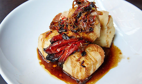 KYLIE KWONG'S DEEP FRIED TOFU WITH BLACK BEAN & CHILLI SAUCE
