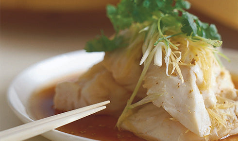 KYLIE KWONG'S STEAMED FISH FILLETS WITH GINGER AND SPRING ONIONS