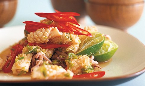 KYLIE KWONG'S STIR-FRIED SQUID WITH GARLIC AND CHILLI