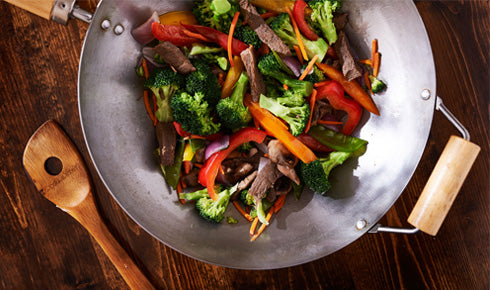 SACHIE'S STIR FRY BEEF & VEGGIES WITH OYSTER SAUCE
