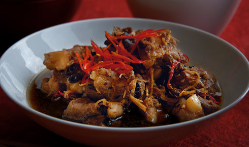 KYLIE KWONG'S STEAMED PORK SPARE-RIBS WITH BLACK BEAN AND GINGER