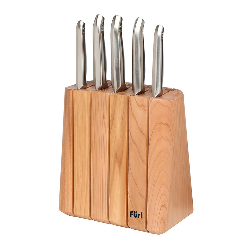 Furi Pro Vertical Chamber Knife Block Set 6 Piece