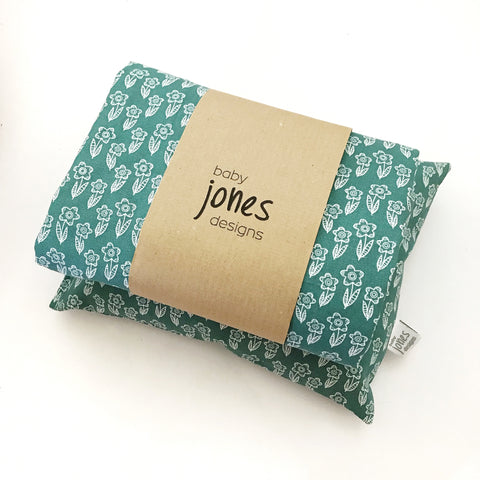 TEAL BLOOMS doll bedding - Baby Jones Designs