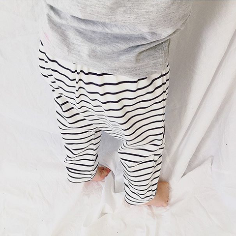 long harem pants | navy stripe - Baby Jones Designs