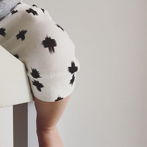 short harem pants | mono brush cross - Baby Jones Designs