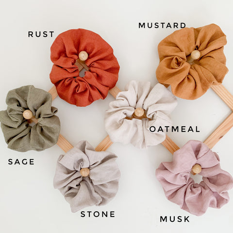 2 Pack Luxe Linen Scrunchie