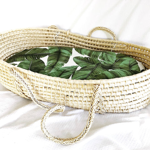 PALM LEAF bassinet sheet - Baby Jones Designs