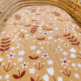 Wildflower Cotton Bassinet Sheet