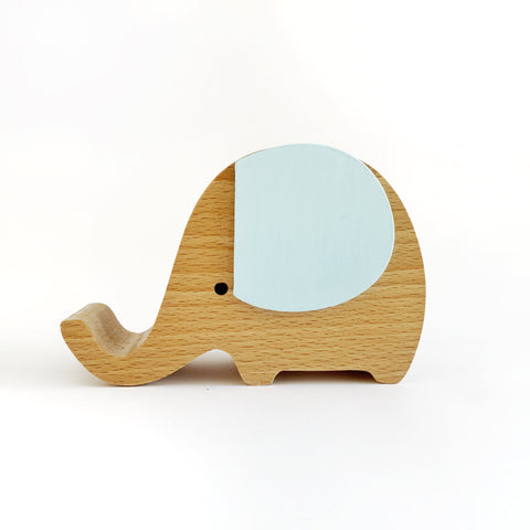 Wooden Musical Elephant | BLUE - Baby Jones Designs
