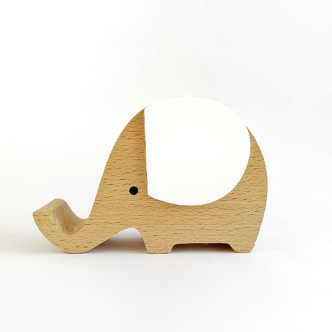 Wooden Musical Elephant | WHITE - Baby Jones Designs