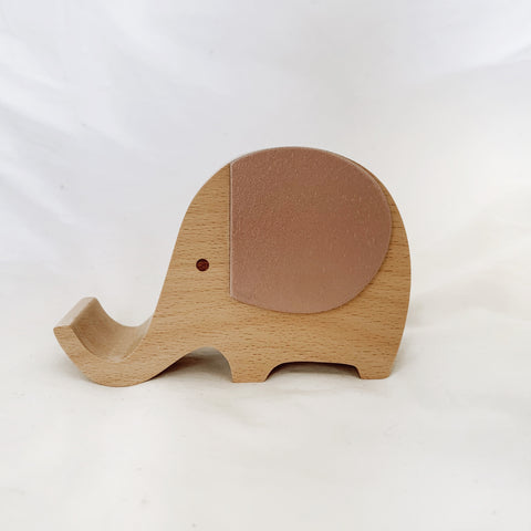 Wooden Musical Elephant | Rose Gold