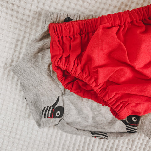 Size 000 two pack | Santa Red + Grey Marle Jersey Shorties