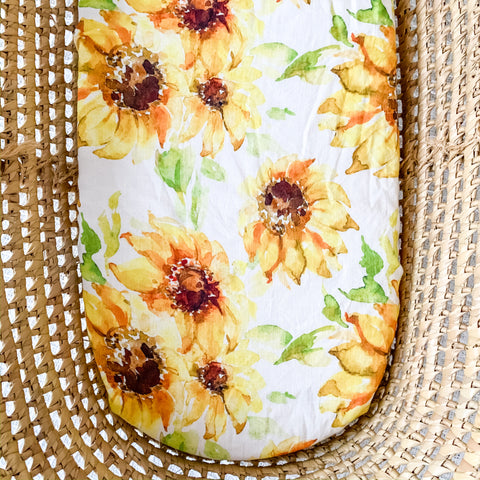 SUNFLOWER bassinet sheet - Baby Jones Designs