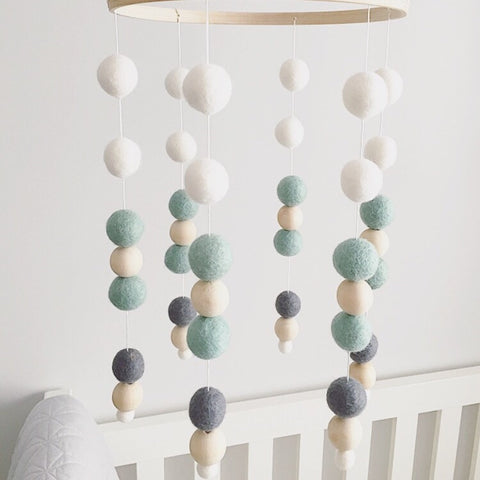 mobile, felt ball | SEASHORE - Baby Jones Designs