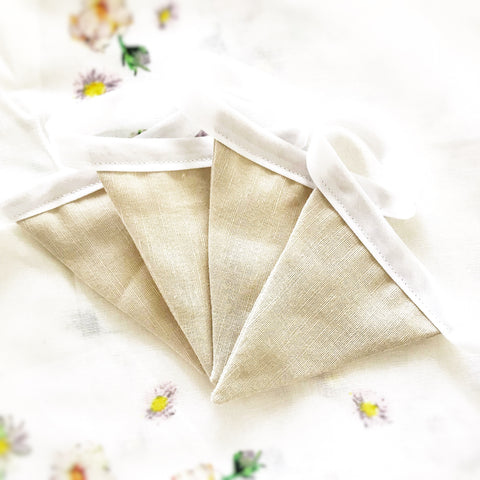 mini fabric bunting NATURAL LINEN - Baby Jones Designs