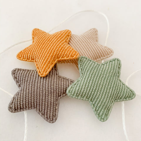 star bunting | earth tones
