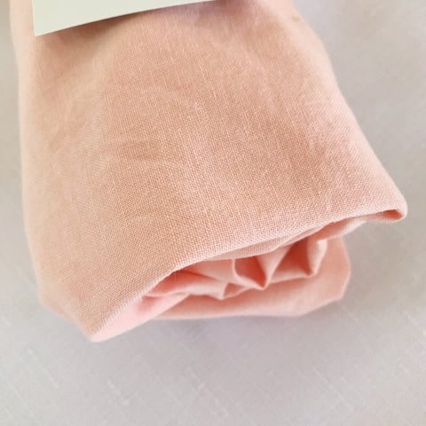 ORGANIC PEACHY BLUSH bassinet sheet - Baby Jones Designs