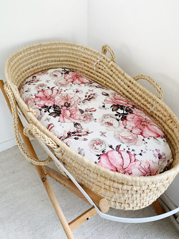 BLOOMS bassinet sheet