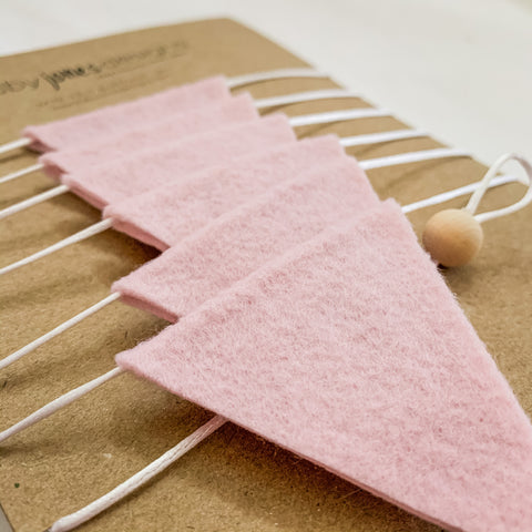 Mini Felt Bunting | Dusty Pink